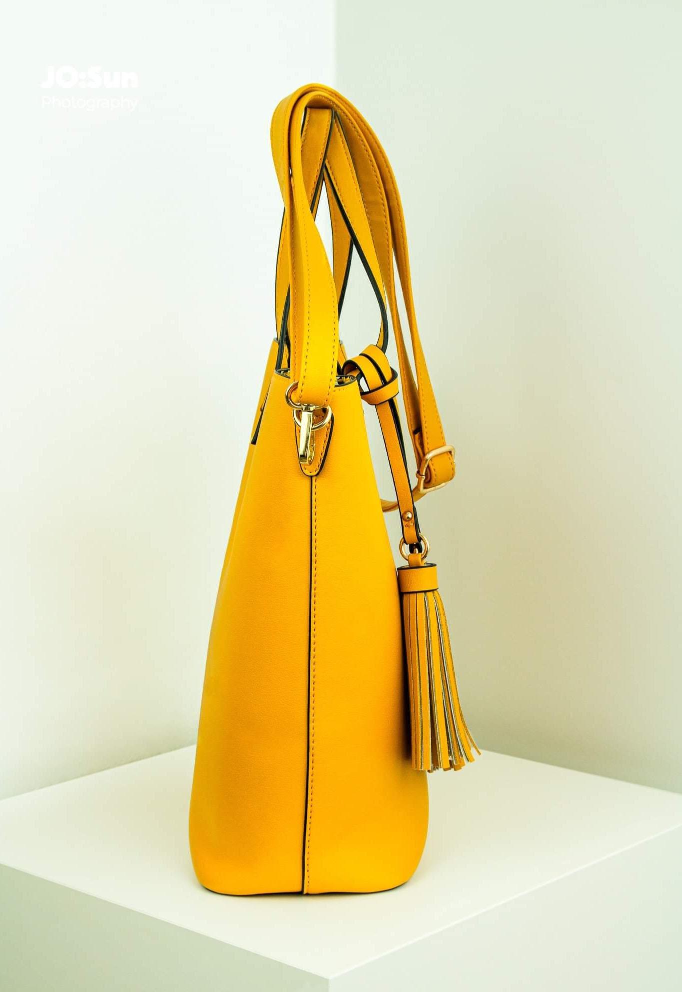 torebka żółta na ramię