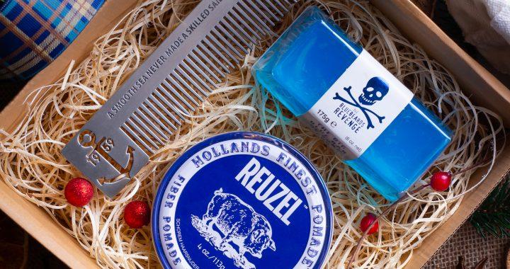 Sesja świąteczna kosmetyków dla mężczyzn